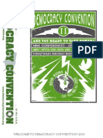 2013 Democracy Convention, Madison WI