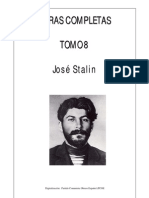 Stalin - Obras Completas Tomo 8
