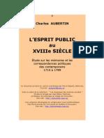 Aubertin Esprit Public 18e