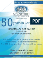 Stanford Settlement 50th Anniversary (Invite)