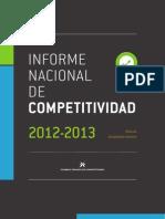 Informe Nacional de Competitividad de Colombia 2012-2013