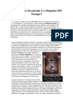 Ha Sido Ya Inventada La Máquina Del Tiempo.doc