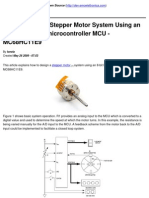 Howto Design a Stepper Motor System Using an 8-bit Freescale microcontroller MCU - MC68HC11E9