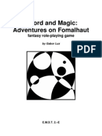 Emdt 2e Sword and Magic Adventures on Fomalhaut