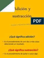 Adición y sustracción- 5° Basico