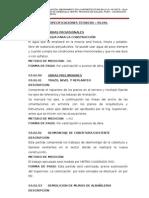 Especificaciones Tecnicas SS.hh SECUNDARIA