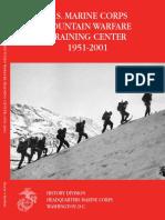 The U.S. Marine Corps Mountain Warfare Training Center 1951-2001