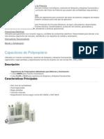Capacitores y Corrección del Factor de Potencia