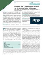 Oral Pharmacologic Treatment of Type 2 Diabetes Mellitus ACP