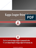 Kappa League Orientation Final