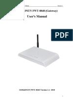 User's Manual 8848gsm_pstn