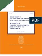 Reglamento Registro de Naves y Artefactos Navales