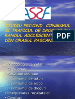 studiu sociologic despre consumul de droguri la Pascani
