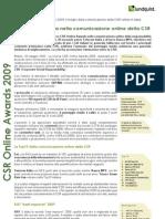 CSR Online Awards 2009 Italy - Italian Executive Summary