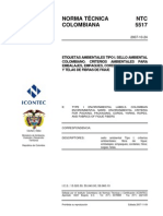 NTC5517 Etiquetas Ambientales, Embalaje, Empaque Fique.