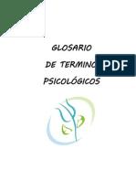 Glosario de Psicología
