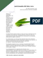 Beneficios Nutricionales Del Aloe Vera