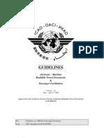 Machine Readable Travel Documents - Passenger Facilitation