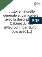 Buffon Histoire Naturelle