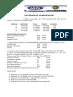 Costos en Gestion Logistica de Importacion.eli III-11