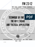 Rifle Squad Fire Tactics