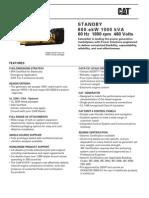 Generator 800 KW C27800ekwStandbyTier2 NR