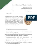 Historia de La Educacion y de La Pedagogia en Colombia