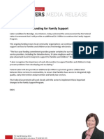 Funding for Family Support