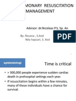 Cardiopulmonary Resuscitation & Management