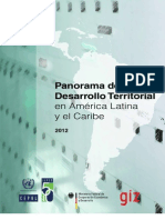 Panorama Del Desarrollo Territorial CEPAL 2012