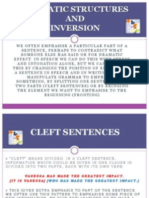 Emphatic Struct and Inversion   Adverb   Sentence (Linguistics)