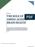 The Role of Amino-Acids in Brain Health