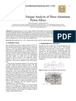 Thermal Cyclic Fatigue Analysis of Three Aluminum Piston Alloys