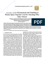 Thermal Stress Measurement and Modeling in Plasma Spray Deposits Used for Attaching Fiber Optic Sensors