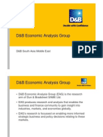 D&B Economic Analysis Group