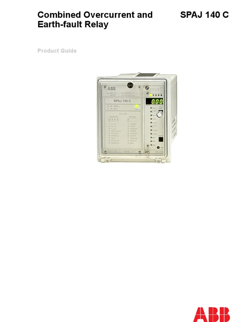 overcurrent abb make spaj 140 manual pdf relay power supply rh scribd com abb ni 41 relay user manual abb ref615 relay user manual