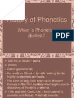 History of Phonetics