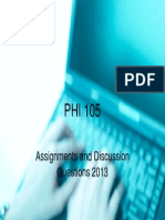 Phi105 Cover Page University of Phoenix College Axia 2013