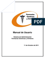 Manual de Usuario Farmacia