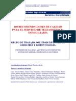100 Recomendac Calidad Servic Telaais - Documento TAD Teleasistencia