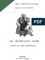 John Chrysostom Homillies on Acts of Apostles