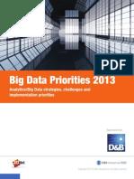 ZDNet Big Data Priorities 2013 PDF