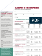 ADF 2008 Bulletin Inscription