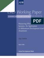 Measuring Efficiency of Macro Systems