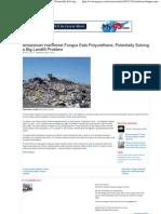 ARTICLE - Amazonian Rainforest Fungus Eats Polyurethane, Potentially Solving a Big Landfill Problem
