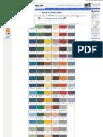 Bs381c Colour Chart for Paints