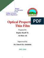 Optical Properties of Thin Film