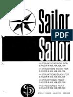 Sailor R103,R104,R105,R106 (Manual)