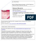 Language Teaching in Blended Contexts - Book Review
