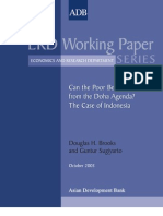 Can the Poor Benefit from the Doha Agenda? The Case of Indonesia